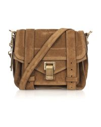 Proenza Schouler | Brown Ps1 Suede Leather Pouch | Lyst