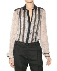 Proenza Schouler | Gray Dyed Shibori Chiffon Shirt | Lyst