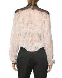 Proenza Schouler - Gray Dyed Shibori Chiffon Shirt - Lyst