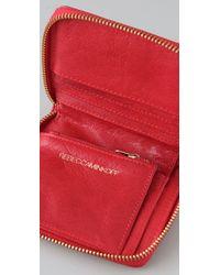 Rebecca Minkoff - Red Shine Small Zip Wallet - Lyst