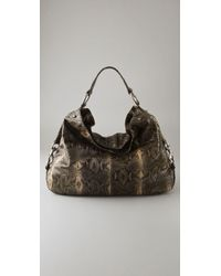 Rebecca Minkoff | Multicolor Grey Python Embossed Nikki Hobo | Lyst