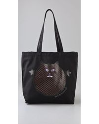 See By Chloé - Black Ugly Monster Velvet Bag - Lyst