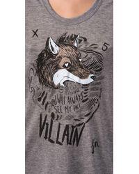 See By Chloé - Gray Fox Villain Scoop Neck Tee - Lyst