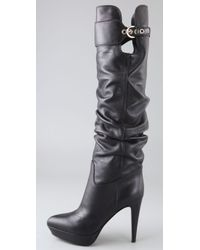 Sergio Rossi - Black Veronica Platform Slouch Boots - Lyst