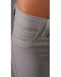 Siwy | Gray Hannah Twill Slim Ankle Pants | Lyst