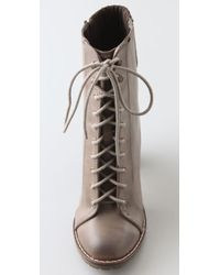 Steven by Steve Madden - Brown Isolate Lace Up Booties - Lyst