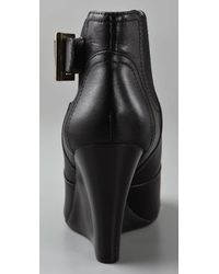 Tory Burch - Black Adrienne Leather Ankle Boots - Lyst