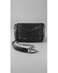 Tory Burch | Black Chain Strand Lambskin Shoulder Bag | Lyst