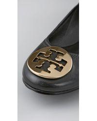 Tory Burch | Black Reva Leather Ballet Flat | Lyst
