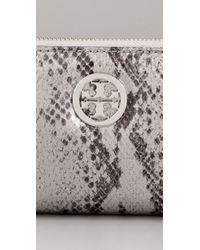 Tory Burch | Metallic Snake Zip Continental Wallet | Lyst