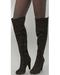 Twelfth Street Cynthia Vincent | Black Devi Suede Over The Knee Boots | Lyst