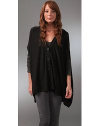 Twelfth Street Cynthia Vincent | Gray Oversized Cape Cardigan | Lyst