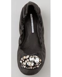 Vera Wang Lavender - Black Marlo Jewel Ballet Flats - Lyst