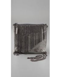 Whiting & Davis | Metallic Liquid Chain Fringe Cross Body Bag | Lyst
