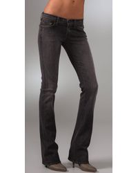 7 For All Mankind | Gray Rocker Boot Cut Jeans | Lyst