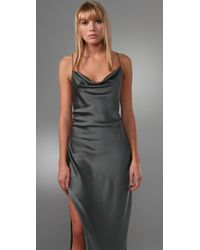 Alexander Wang - Green Folded Back Slip Dress - Lyst