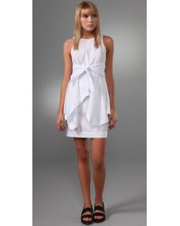 Alexander Wang | White Cotton-poplin Handkerchief Dress | Lyst