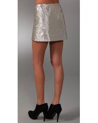 Alice + Olivia | Mayra Metallic Skirt | Lyst