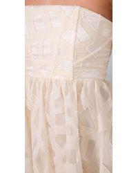 Alice + Olivia | White Kristin Strapless Dress | Lyst