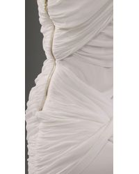 Alice + Olivia - White One Shoulder Goddess Dress - Lyst