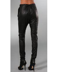 By Malene Birger | Black Chicoree Leather Harem Pants | Lyst