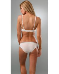 Calvin Klein - White Perfectly Fit Bouquet T-shirt Bra with Lace - Lyst