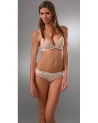 Calvin Klein | Natural Perfectly Fit Push Up Bra with Lace | Lyst