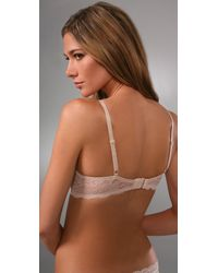 Calvin Klein - Natural Perfectly Fit Push Up Bra with Lace - Lyst