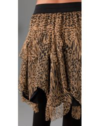 Catherine Malandrino | Multicolor Raw Edge Shredded Skirt | Lyst
