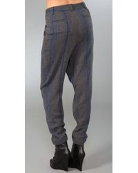 Charlotte Ronson - Gray Overlapped Cuff Pants - Lyst