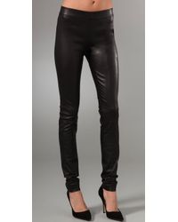 Club Monaco | Black Brityn Leather Leggings | Lyst
