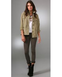 Current/Elliott - Green The Commander Jacket in Pale Olive - Lyst