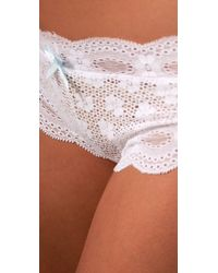 Eberjey - White India Lace Low Rise Boy Thong - Lyst