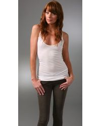 Enza Costa | White Ribbed Skinny Tank | Lyst