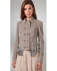 Free People - Natural Cord Victorian Riding Jacket - Lyst
