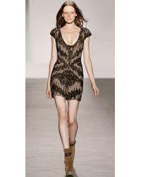 Hervé Léger | Brown Beaded Dress | Lyst