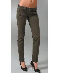 Hudson Jeans - Green Skinny Chino Pants - Lyst