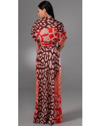 Issa - Purple Long Kimono Dress - Lyst
