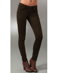 James Jeans | Green Twiggy Twill Leggings | Lyst