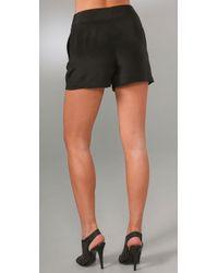 Jenni Kayne - Black Multi Pleated Shorts - Lyst