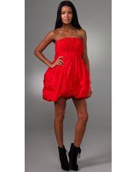 Jill Stuart | Red Portia Strapless Dress | Lyst