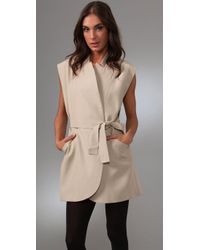 Lover - Natural Arthouse Trench Dress - Lyst