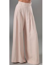 Lover - Pink Wide Leg Flare Pants - Lyst