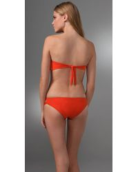 L*Space | Orange Lola Bandeau Bikini Top | Lyst