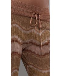 M Missoni - Metallic Crochet-knit Pants - Lyst