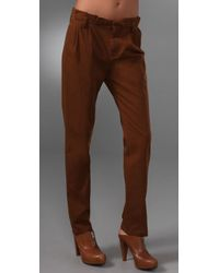 Madewell | Brown Paper Bag Trousers | Lyst