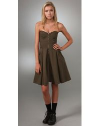 Marc By Marc Jacobs | Green Fatigue Twill Dress | Lyst