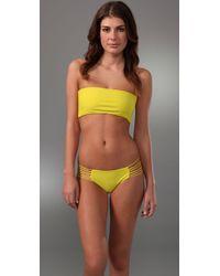 Mikoh Swimwear   Yellow Tortola String Side Bikini Bottoms   Lyst