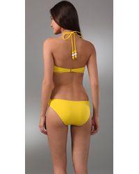 MILLY | Yellow Barbados Bikini Top | Lyst