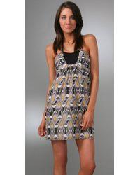 MILLY - Purple Halter Mini Dress - Lyst